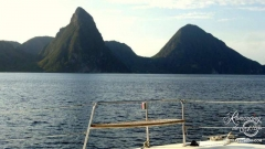 Sailing, St. Lucia - Pitons
