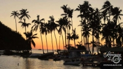 sunset Marigot Bay