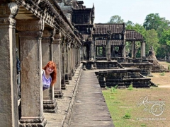 Angkor Wat - messing up Tom's artsy shot