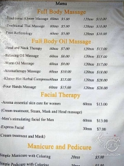 Massage - Cambodia prices