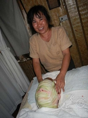 Massage at Greeen Bamboo - cucumber facial wrap