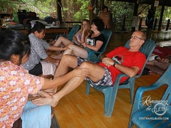Elephant Nature Park - foot massage Tom