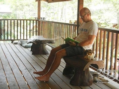Elephant Nature Park - reading time with friends