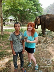 Elephant Nature Park - mahout with hand-carved sculpture