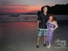 Beach sunset at Railay