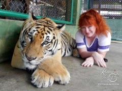 Sheila with tiger