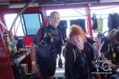 Tom and Sheila - ready to dive