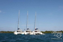 Our three catamarans nestled