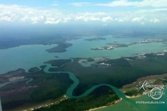 Flight approaching Placencia