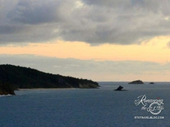 Antigua departure - Hawksbill from a distance