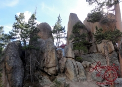 Hiking the boulders