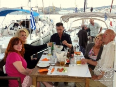 Syros dinner, we love marinas!