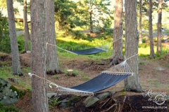 Djurönäset strategically placed hammocks