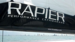 The onset of the Fastnet Race to Ireland, as seen from Rapier 550
