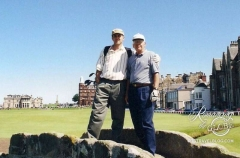 Dad and Tom at St. Andrews 2001