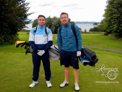 Friendly Golfers, Jack and Shawn at Silverknowes
