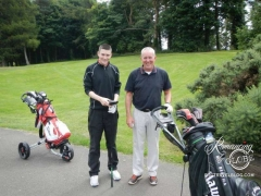 Friendly golfers, Jim and son, Martin at Musselburgh