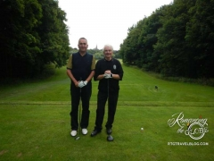 Friendly golfers, Ronny and Jhonny at Musselburgh