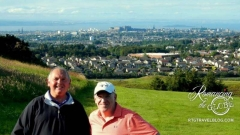 Fun golfers, John and Barry at Swanston Golf Club