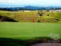 Edinburgh view from Swanston Golf Club