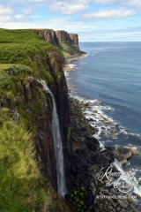 Kilt Rock coast waterfall