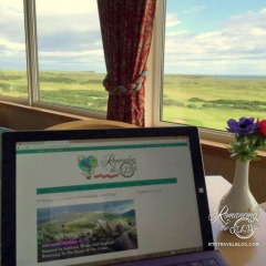 Cruden Bay clubhouse - Sheila's workspace