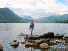 Lake District, England - Only moments ago she arose from the water with her mermaid tail gleaming. Where did she get those jeans