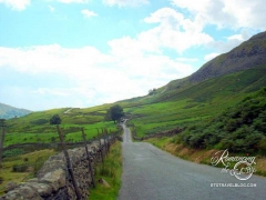 Road to the Lake District of England