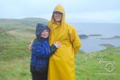 Staffa Island - Tom's not pregnant, he's keeping his backpack dry