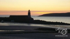 Sunset -Portpatrick coast and lighthouse