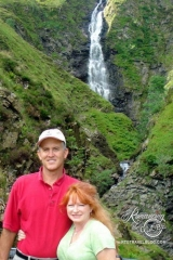Us at Gray Mare's Tail waterfall