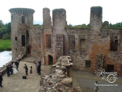 Caevalerock Castle - There was a wedding party and men of all ages were wearing kilts!