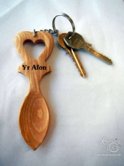Lovespoon room key at Cardigan Key