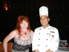 Sheila with the chef