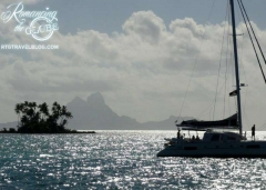 Bora Bora view from Raiatea