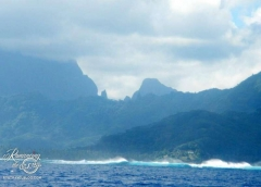 Raiatea mountain and surf
