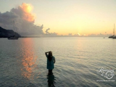 Moorea sunset - this was such a sweet spot for boat watching and a picnic