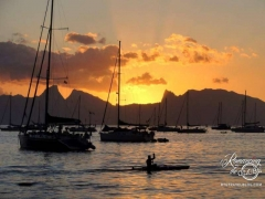 Sunset in Tahiti - Our last evening, a few hours before flying home