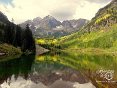 Colorado Maroon Bells - The most photographed peaks in North America (how do they know that). Here's our version.