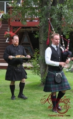 Our Scottish Wedding - celtic caterer and bagpiper